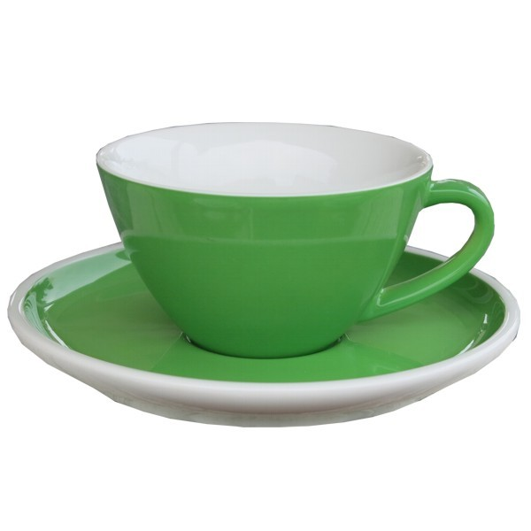 Arzberg Profi Cappuccinotasse green grün 2 tlg Porzellan