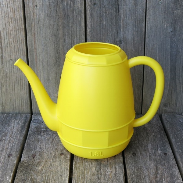 Gießkanne gelb 1,8 l Kunststoff Blumengießkanne Zimmergießkanne