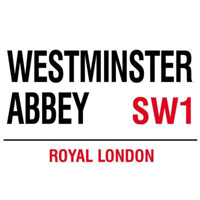 Metallschild Westminster Abbey mittel Blechschild London Magnettafel