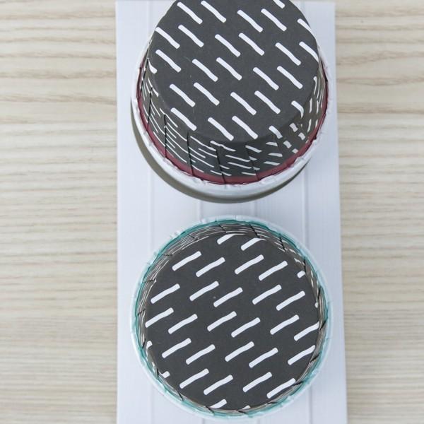 Muffinförmchen Cupcake Papier Cups Crinkle Oh la la 24 Stück Birkmann