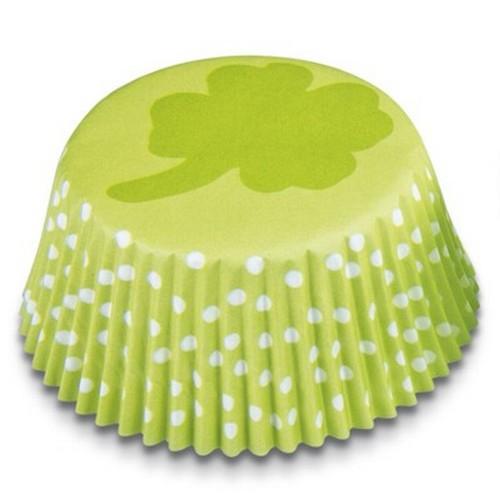 Muffinförmchen Cupcake Papierförmchen Muffin Kleeblatt grün Städter