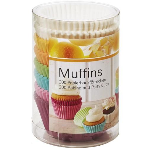 Muffinförmchen Cupcake Pastell weiß 200 Stück Papierförmchen Muffin Birkmann