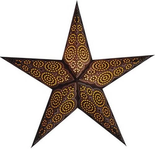 Starlightz Marrakesh braun gelb Leuchtstern Papier Stern Lampe Weihnachtsstern