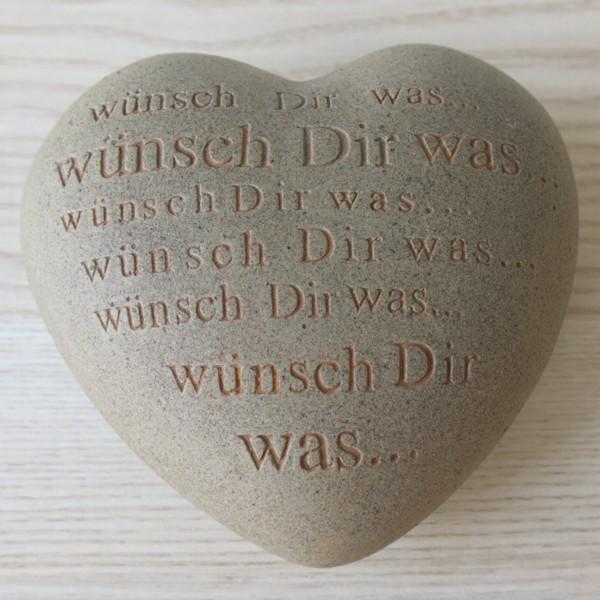 Räder Poetry Hearts Wünsch Dir was Keramik Herz