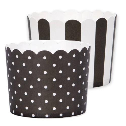 Muffinförmchen Cupacke Papier Cups schwarz weiß Muffin Städter
