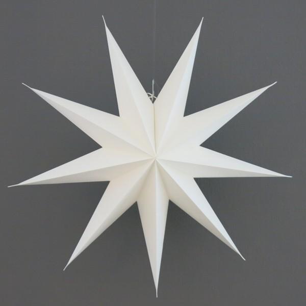 House Doctor Stern weiß 60 cm 9 zackig Papier Faltstern Weihnachten