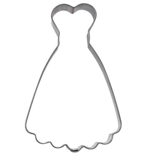 Ausstechform Kleid 9 cm Ausstecher Brautkleid Städter
