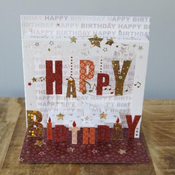 Pop Up Karte Happy Birthday 3 D Kerzen Geburtstag