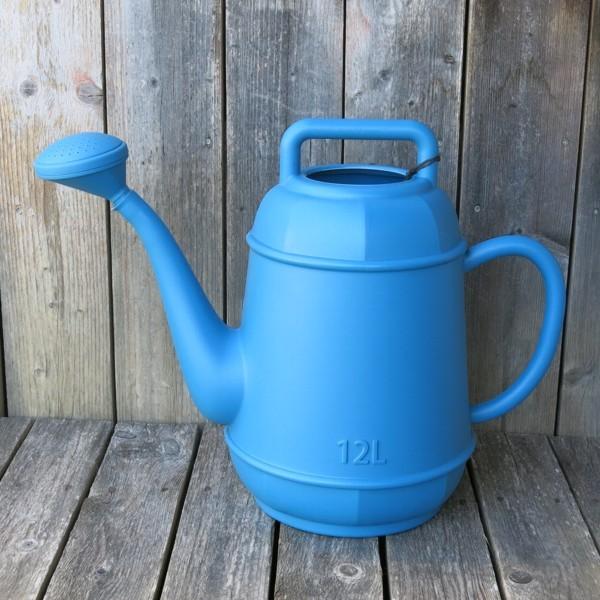 Gießkanne blau 12 l Kunststoff Form Kaffeekanne NEWSTALGIE