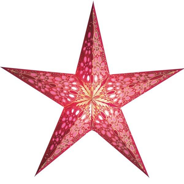 Starlightz Stern Festival pink 45 cm Leuchtstern Papier Faltstern Weihnachtsstern