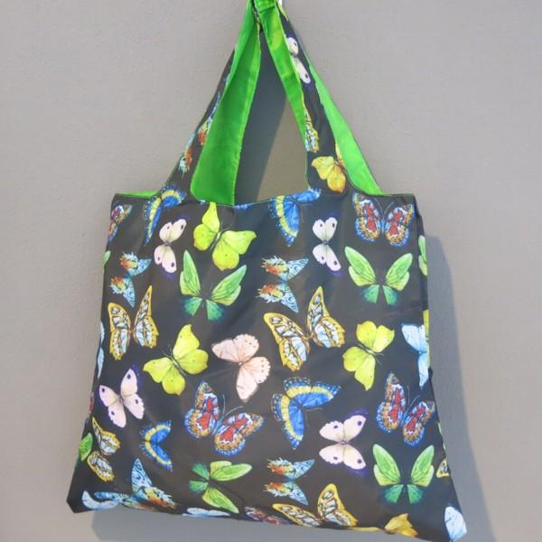 Loqi Butterflies Schmetterling Einkaufstasche Shopper Details Zu Tasche Wild Bag Falt bfgY76yv