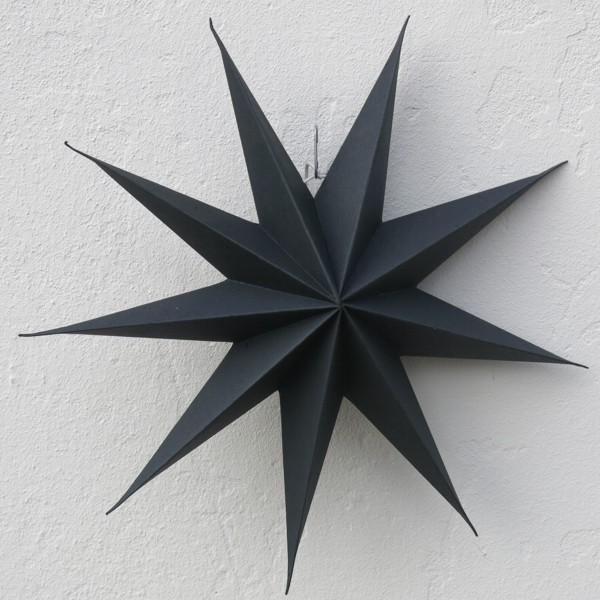House Doctor Stern dunkelbraun 45 cm fast schwarz 9 zackig Papier Faltstern Weihnachten