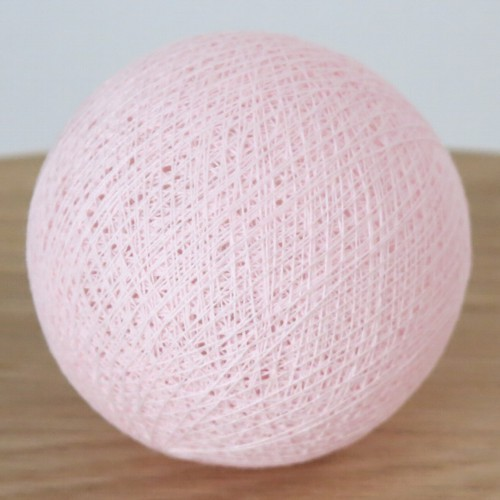 Cotton Ball Lights Kugel rosa für Bälle Lichterkette Baumwolle
