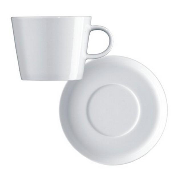 Arzberg Cucina Cafe au lait Tasse weiß 2 tlg Tasse Milchkaffee Porzellan
