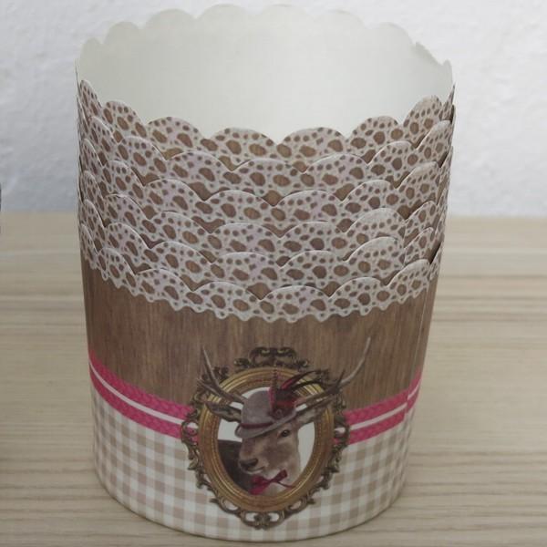 Muffinförmchen Cupcake Papier Cups Hirschdame Städter 12 Stück
