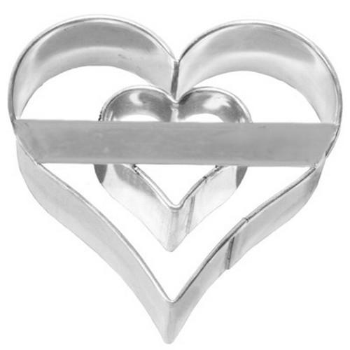 Ausstechform Herz 6 cm Ausstecher Doppelherz Birkmann