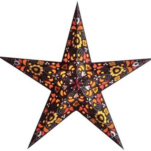 Starlightz Kurbits orange Leuchtstern Papier Stern Lampe Weihnachtsstern
