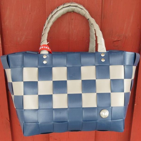 ICE BAG 5008 67 Witzgall MIni Shopper blau taupe Einkaufskorb Tasche