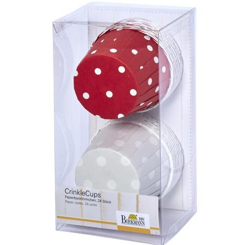 Muffinförmchen Cupcake Papier Cups Punkte rot weiß 24 Stück Birkmann