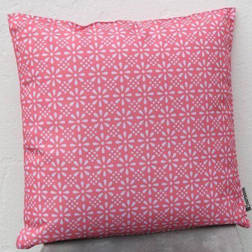 Outdoor Kissen rosa dunkel Erdbeere 47 cm Daisy Flower Garten für draußen