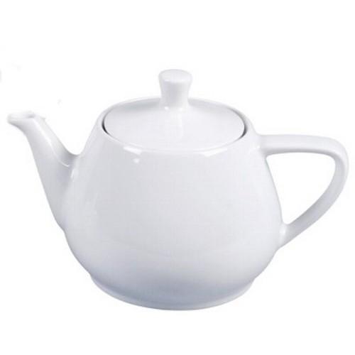 Friesland Teekanne 0,85 l weiß Porzellan vormals Melitta Minden UTAH teapot