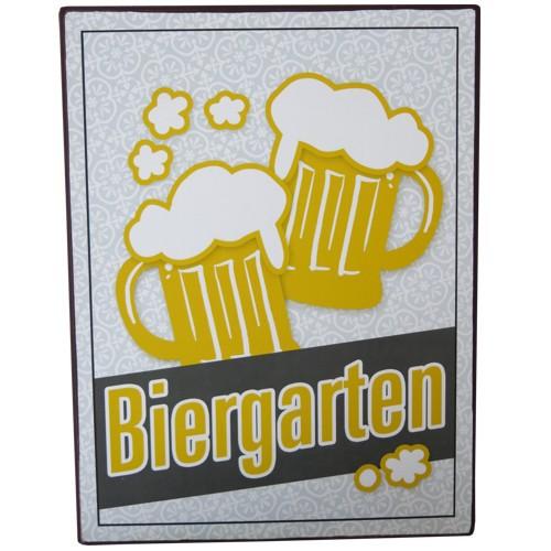 Metallschild Biergarten Blechschild Bier Masskrug Lafinesse