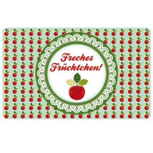 Frühstücksbrettchen Freches Früchtchen Apfel Blümchen & Ko