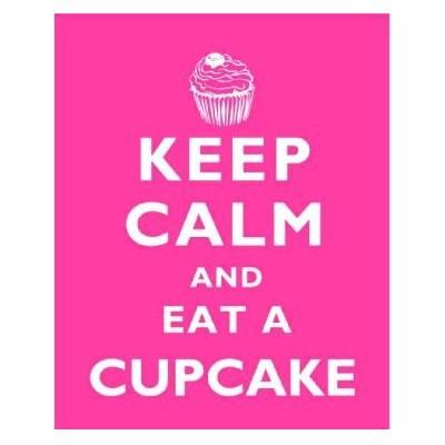 Metallschild Cupcake groß Keep calm and eat Blechschild Muffin pink Magnettafel