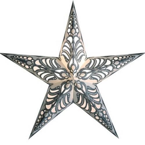 Starlightz Geeta silber Leuchtstern Papier Stern Lampe Weihnachtsstern