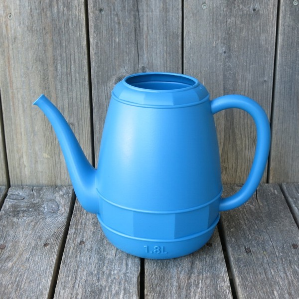 Gießkanne blau 1,8 l Kunststoff Blumengießkanne Zimmergießkanne