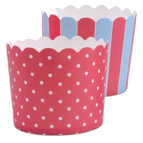 Muffinförmchen Cupcake Papier Cups rot blau weiß Muffin Punkte Streifen Städter 12 Stück