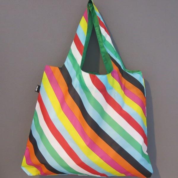 LOQI Tasche Pop Stripes Streifen bag Einkaufstasche Falt-Shopper