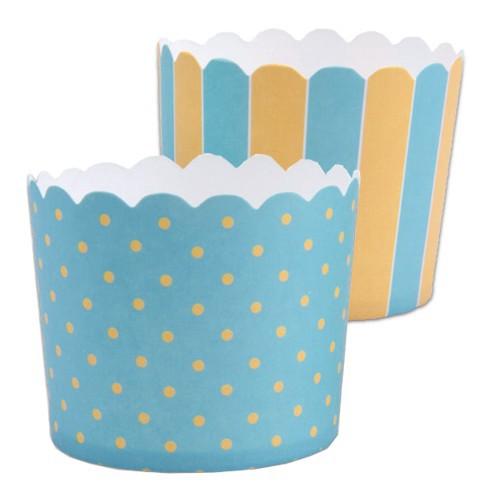 Muffinförmchen Cupcake Papier Cups türkis gelb Muffin Städter 12 Stück