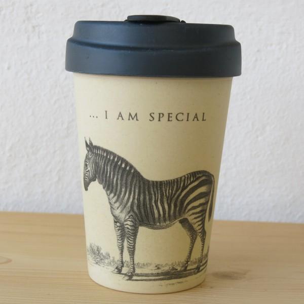 bamboo cup coffee to go becher zebra i am special bambus kaffeebecher ebay. Black Bedroom Furniture Sets. Home Design Ideas