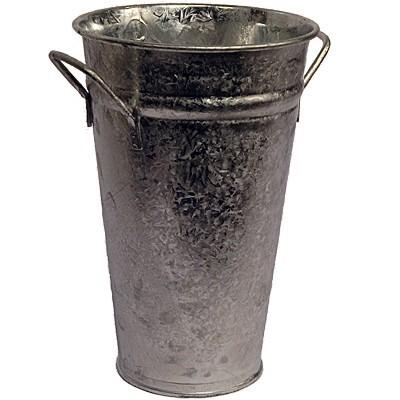 Vase verzinkt 55 cm Zink Zinkvase Schirmständer Metall Blumenvase