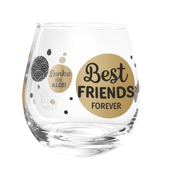 Formano Glas Spruch Best Friends forever Danke für alles Wein Cocktail
