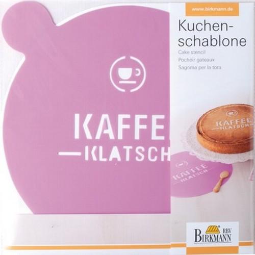 Kuchenschablone Kaffeeklatsch Dekorschablone Tortendeko Birkmann