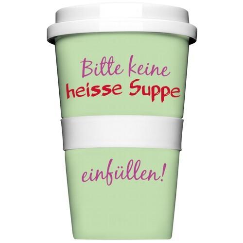 Rannenberg Becher Coffee to go Bitte keine heisse Suppe einfüllen Kaffeebecher