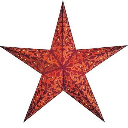 Starlightz Furnace rot orange Leuchtstern Papier Stern Lampe Weihnachtsstern
