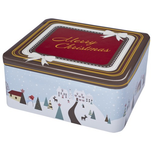 Plätzchendose Merry Christmas Winterland Keksdose Dose Blechdose Gebäckdose 18 x 16 x 8 cm Birkmann