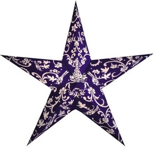 Starlightz Rokoko blau weiß Leuchtstern Papier Stern Lampe Weihnachtsstern