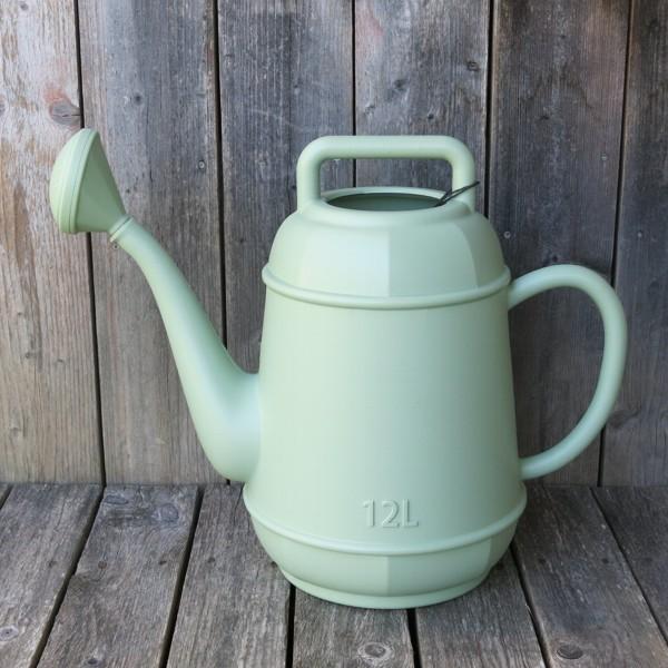 Gießkanne grün Vintage 12 l Kunststoff Form Kaffeekanne NEWSTALGIE