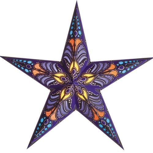 Starlightz Stern Ramadasa blau Papierstern Leuchtstern