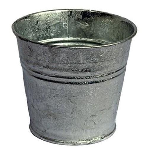 Blumentopf verzinkt 15 cm Zink Zinktopf Übertopf Metall