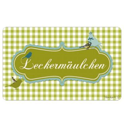 Frühstücksbrettchen Leckermäulchen Vogel Blümchen & Ko
