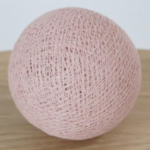 Cotton Ball Lights Kugel altrosa hell für Bälle Lichterkette Baumwolle