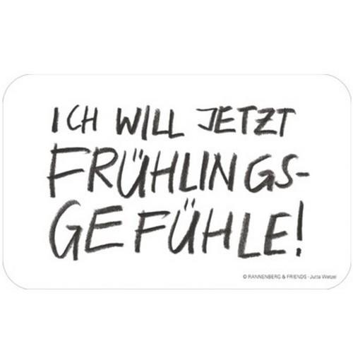 Rannenberg & Friends Frühstücksbrettchen Ich will jetzt Frühlingsgefühle