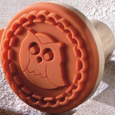 Keks-Stempel Eule 7 cm Cookie Stamp Plätzchen