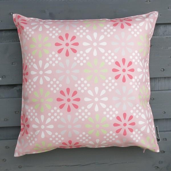 Outdoor Kissen rosa hell 47 cm Daisy Flower Multi Garten für draußen