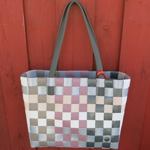 ICE BAG 5030 32 Tasche Witzgall Chic Shopper altrosa grau taupe weiß Einkaufstasche